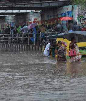 People suffering from rainwater