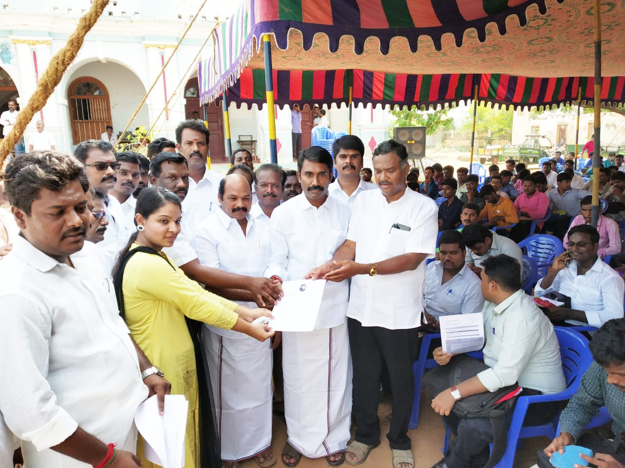 Work Camp conducted by Competitive ADMK... Work Order for 1800 ...