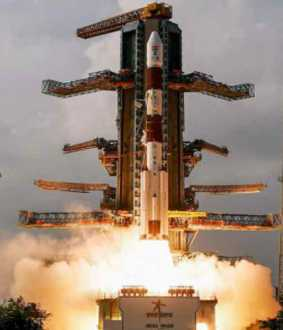 PSLV C-51 launched into the sky