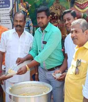 Annathanam with special pooja for Sasikala in Dindigul!