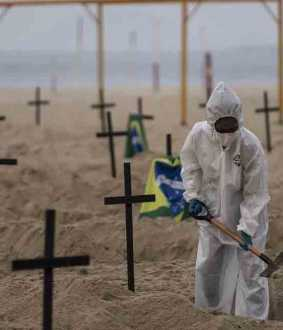 brazil becomes second country to pass 50,000 deaths by corona
