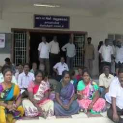 Cemetery missing- people blocked Taluk office