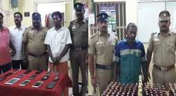 illicit liquor, cellphone thieves are arrested in Virudhachalam