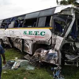 bus accident - sankagiri - salem