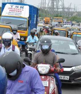 Traffic congestion in Chennai