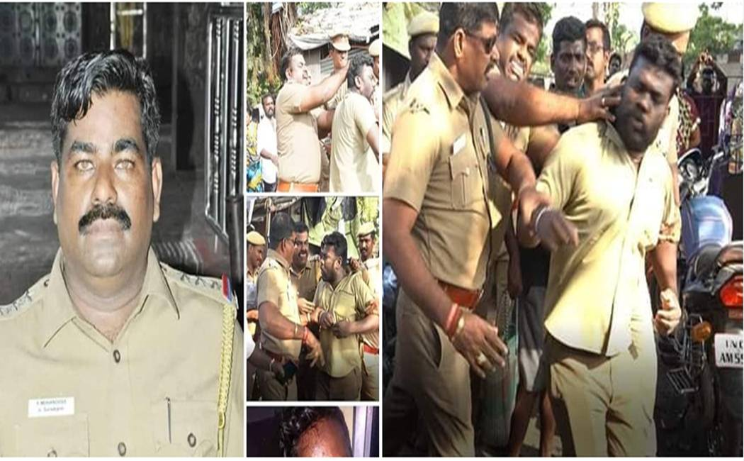police inspector attacked the social worker