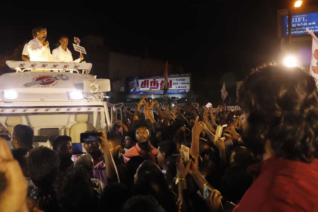 kamal election campaign  in thiruparangkundram