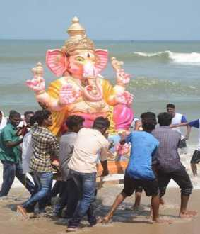 chennai Ganesha statue procession monitored by CCTV cameras