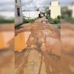 road in pathetic condition