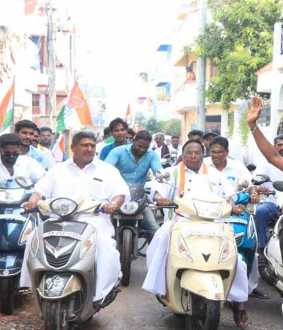 puducherry governor and cm narayanasamy helmet issue tweet