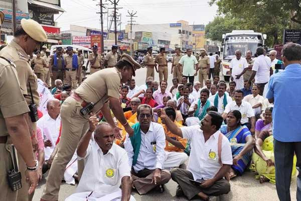 farmers protest in erode