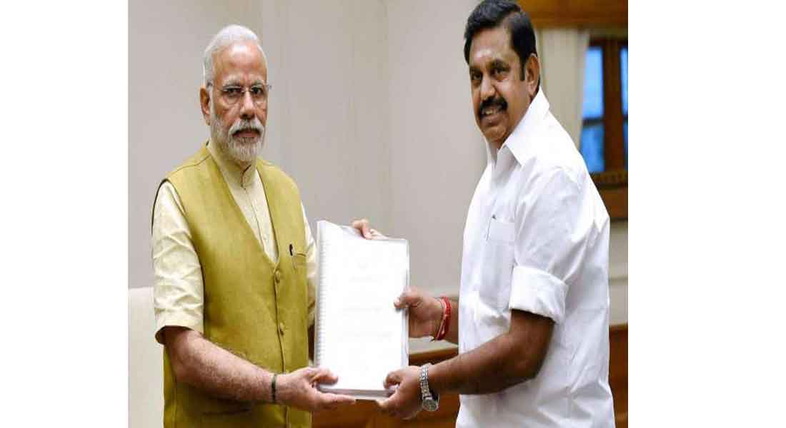 Modi's meeting with Edappadi 13,000 crore to provide relief fund