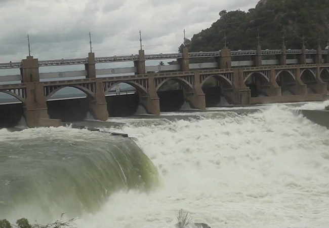 mettur dam water level continue growth level