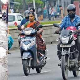 Bad roads are the cause of accident; Report on filing helmet case