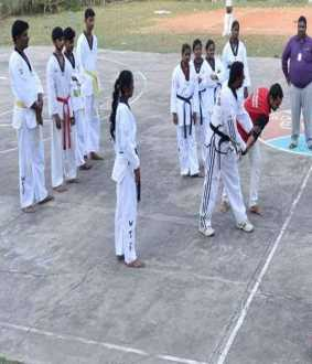 Annamalai university womens  Defensive Training