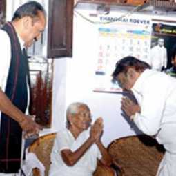 vijayakanth at vaiko house