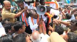 Political confrontation in Kanyakumari
