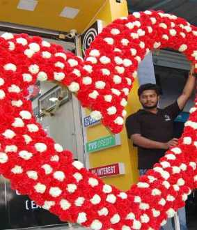 lovers day heart shap flower in erode one of the shop