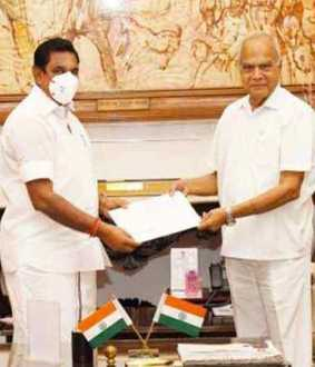 Tamilnadu Chief Minister meets Governor for the third time