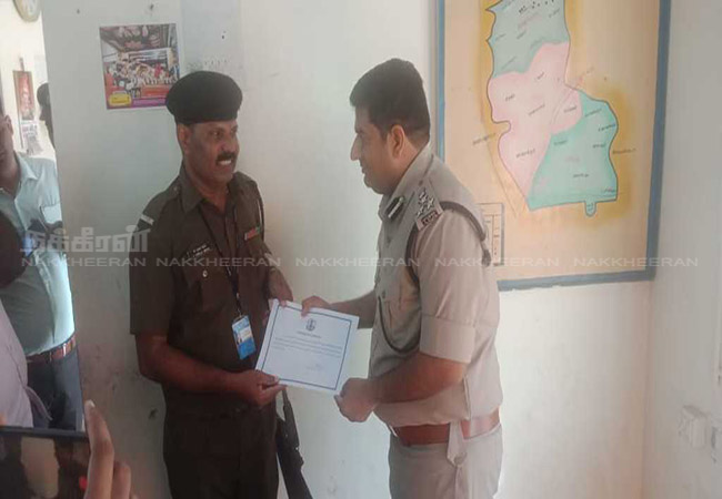 SIVAGAGAI DISTRICT Award for security that saved Rowdy's life