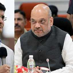 sourav ganguly clarifies about meeting amitshah