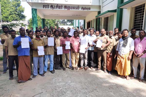 auto drivers gave petition to take action against domestic cow owners