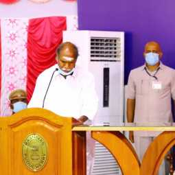puducherry chief minister rangasamy signature for three files