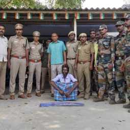 Crocodile hunt ... one arrested