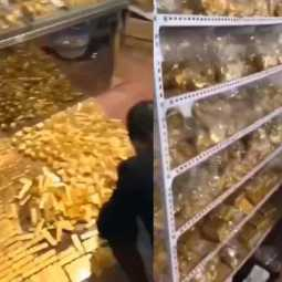 tons of gold seized from a chinese man