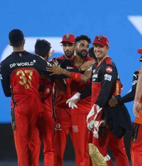 Royal Challengers Bangalore vs sunrises hyderabad teams ipl match