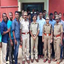 Award couple    The attackers arrested. nellai district