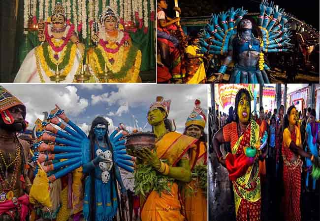 The world famous bunch   Mutharamman Temple Dasara Festival started!