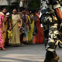 incident in polling station in West Bengal