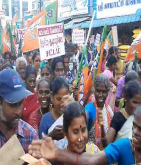 caa supported in bjp party rally in nagai district