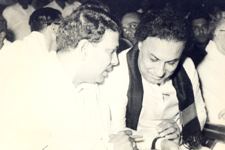 mgr with karunanidhi
