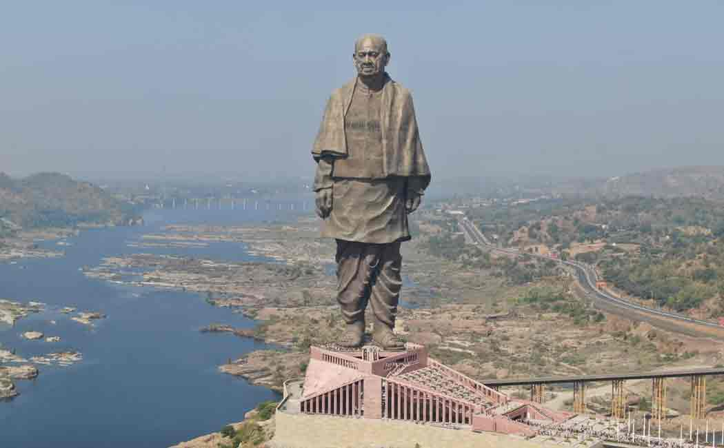 rain water inside gujarat statue of unity