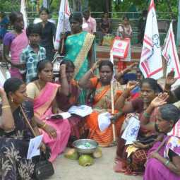women Association's protest