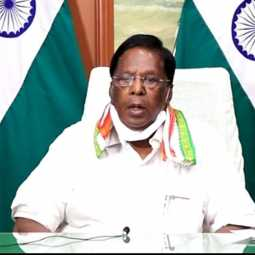 puducherry peoples cm narayanasamy coronavirus preventive discussion