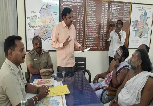 chidambaram temple issue dikshidars police investigation