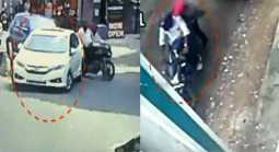 Turning the CCTV back and breaking the car's glasses and theft money in chennai