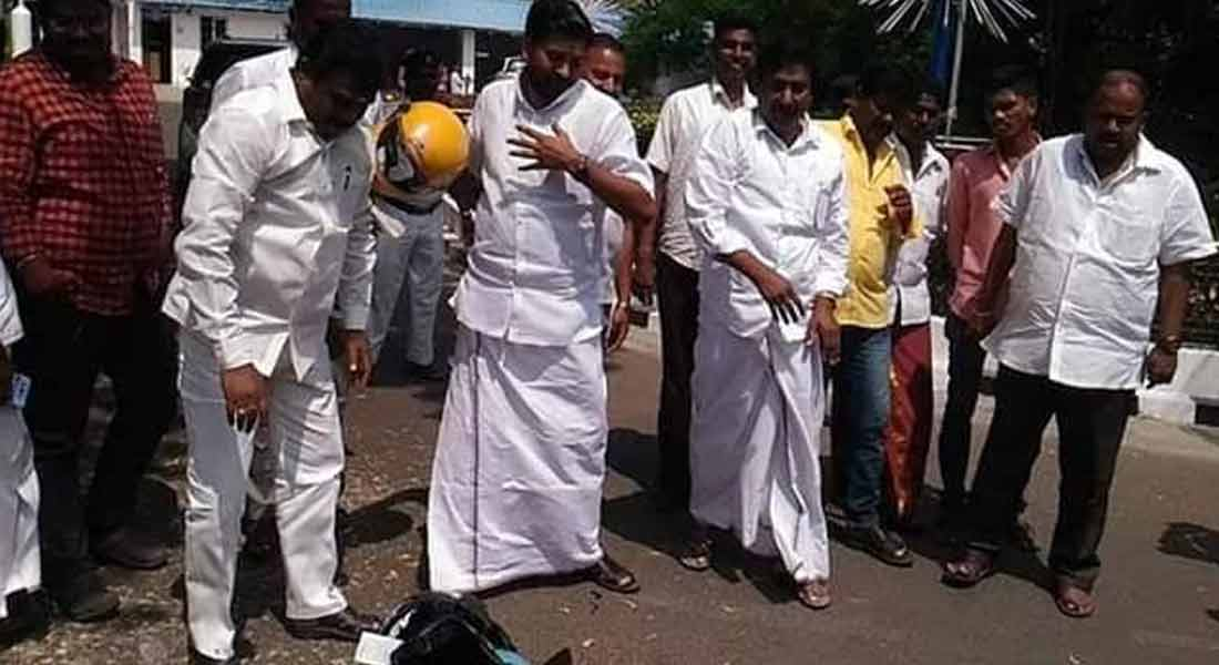 PROTEST IN PUDUCHERRY