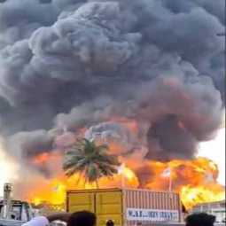 Fire at Kummidipoondi oilfield near Chennai