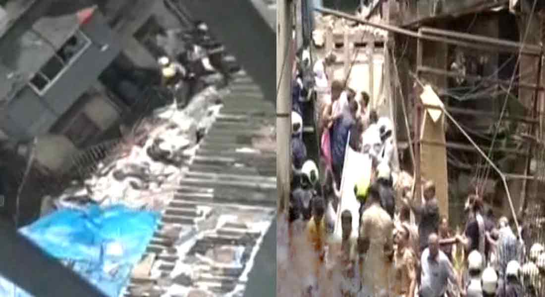 Four-storey building collapses in mumbai