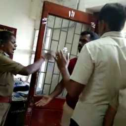 cuddalore district sub inspector and women inspector fight