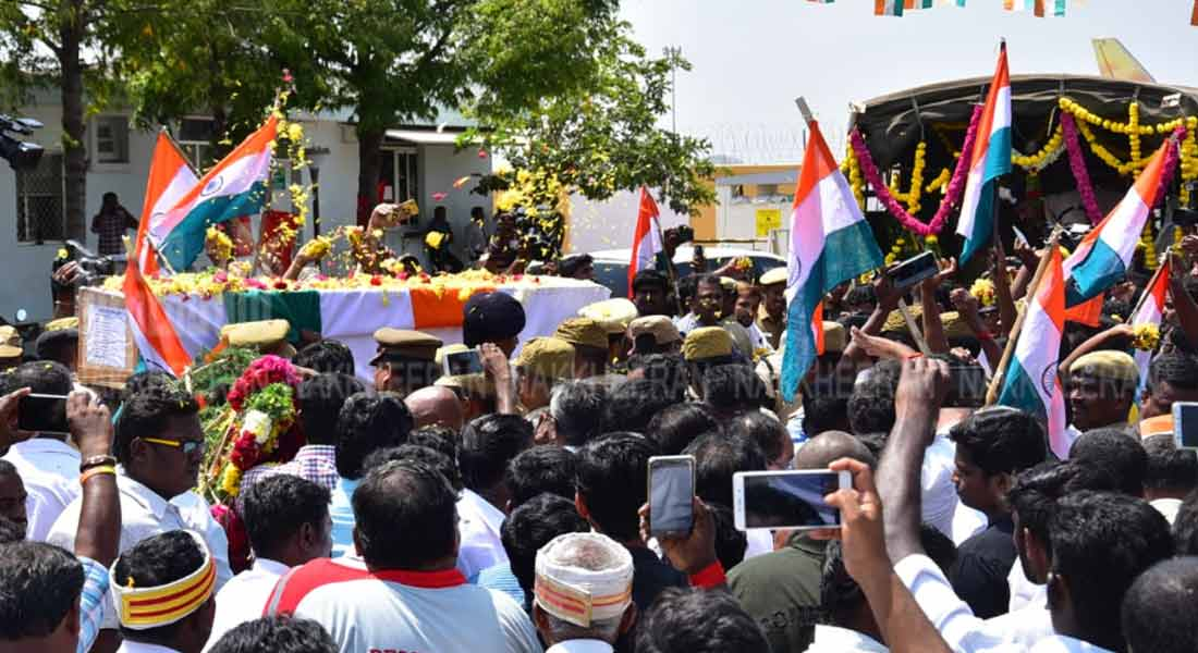 supramaniyan's body is buried with govt respect