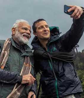 bear grylls about modi in man vs wild