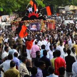 The funeral of DMK general secretary K Anbazhakan ... Thousands of people participating!