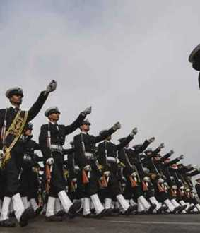 Troops Rehearsal Republic Day parade at Marina ..!
