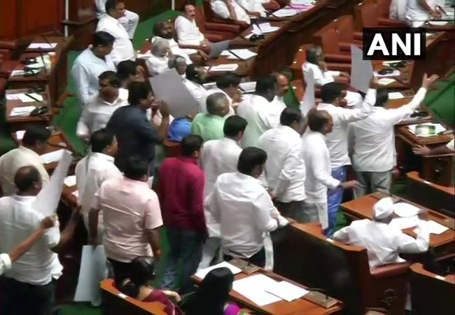 karnataka assembly today end, trust vote for tomorrow
