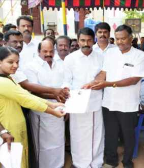Work Camp conducted by Competitive ADMK... Work Order for 1800...
